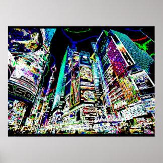 Neon New York City Poster