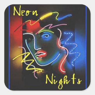 Neon Nights Square Sticker