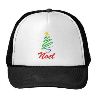 Neon Noel Xmas Tree Trucker Hats