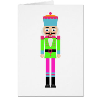 NEON NUTCRACKER CHRISTMAS GREETING CARD