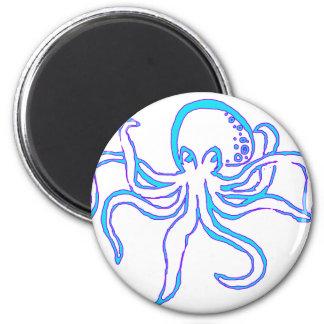 Neon Octopus Magnet