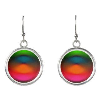 Neon of Red, Pink, Orange & Green Drop Earrings