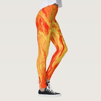 Neon Orange Leggings by bcolor
