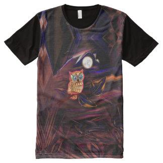 Neon Owl Thunderstorm Flash Fantasia All-Over Print T-Shirt