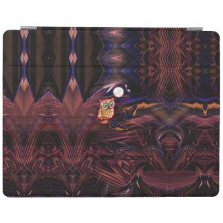 Neon Owl Thunderstorm Flash Fantasia iPad Cover