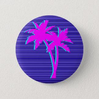 Neon Palm Tree 6 Cm Round Badge