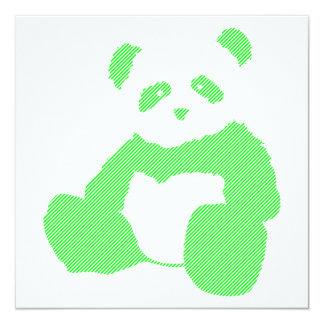 neon panda 13 cm x 13 cm square invitation card