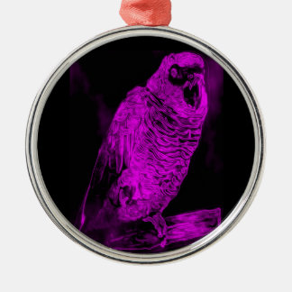 Neon Parrot Christmas Ornament