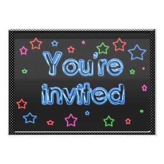Neon Party Invitation