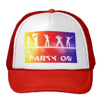 neon party mesh hat