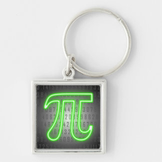 Neon Pi Day Sign Key Ring
