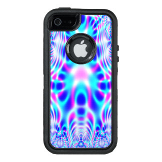 Neon Pink and Blue Rocket Abstract OtterBox iPhone 5/5s/SE Case