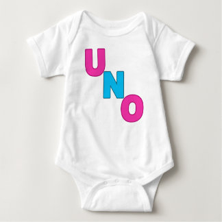 NEON pink and blue UNO Birthday Tee