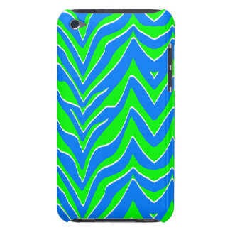 Neon Pink and Blue Zebra Stripes Barely There iPod Cover