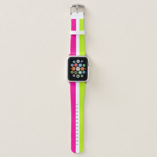 Neon Pink and Green Apple Watch Band
