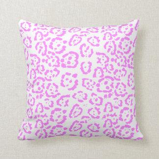 Neon Pink Cheetah Animal Print Cushion