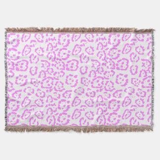 Neon Pink Cheetah Animal Print Throw Blanket