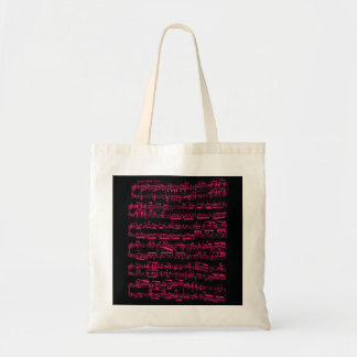 Neon pink classical sheet music (Beethoven) Tote Bag