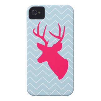 Neon Pink Deer Silhouette iPhone 4 Cover