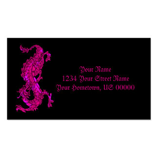 Neon Pink Dragon Business Card
