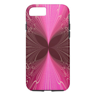 Neon Pink Futuristic Cyber Abstract Lasers iPhone 7 Case