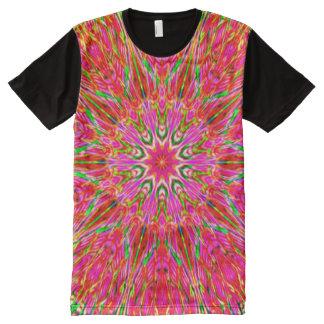 Neon Pink Kaleidoscope ~ Beautiful Reflections All-Over Print T-Shirt