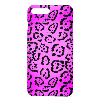 Neon Pink Leopard Print Animal Pattern iPhone 8 Plus/7 Plus Case