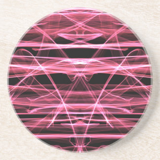 NEON PINK LIGHT PORTAL TIME TRAVEL SPACE DIGITAL A COASTERS