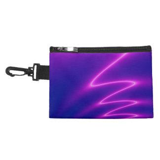 Neon Pink Lightning Accessories Bag