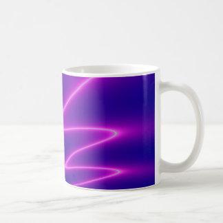 Neon Pink Lightning Basic White Mug