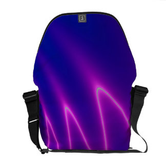 Neon Pink Lightning Courier Bag