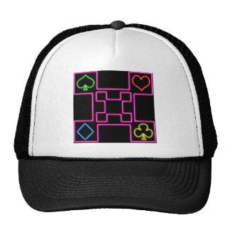 Neon pink poker cap