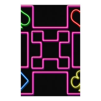 Neon pink poker stationery paper