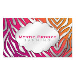 Neon Pink & Purple Zebra Print Tanning/Salon Pack Of Standard Business Cards
