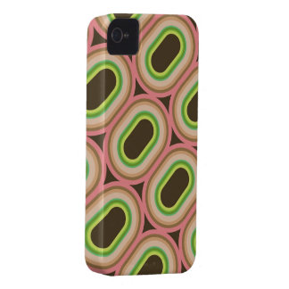 Neon Pink Rings Abstract Pattern iPhone 4 CaseMate iPhone 4 Case-Mate Cases