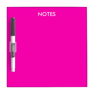 Neon Pink Solid Color Customize It Dry-Erase Whiteboard