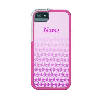 Neon pink spiders on pale pink Personalise-It iPhone 5/5S Cover