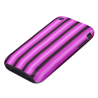 Neon Pink Stripes iPhone 3 Tough Covers