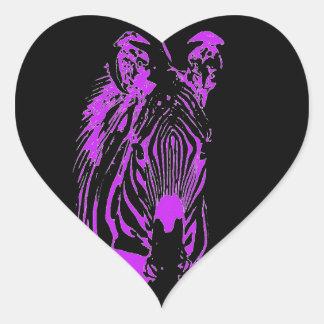 Neon Pink Zebra Sticker