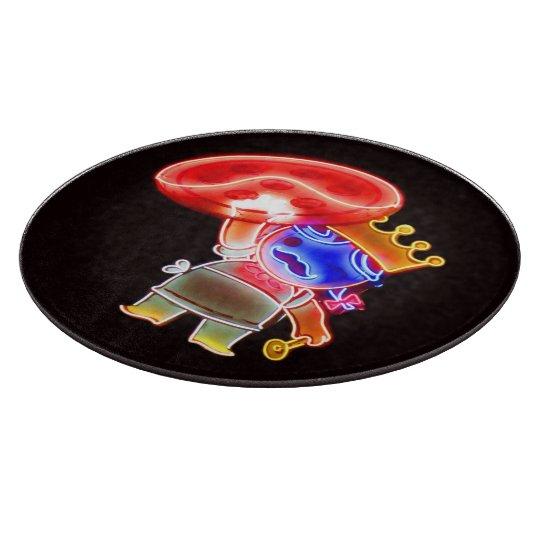 Neon Pizza Pie Cutting Board