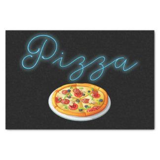 Neon Pizza Sign Tissue Paper