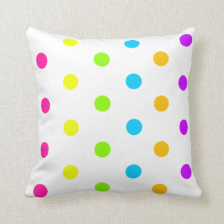 Neon Polka Dot Pillow