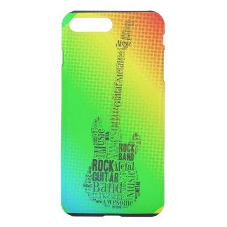 Neon Pop Art Rock Guitar Word Cloud iPhone 8 Plus/7 Plus Case