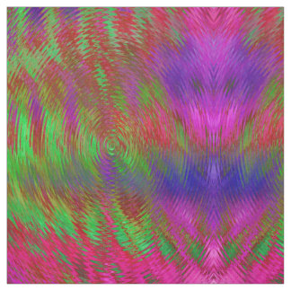 Neon Psychedelic Geometric print fabric