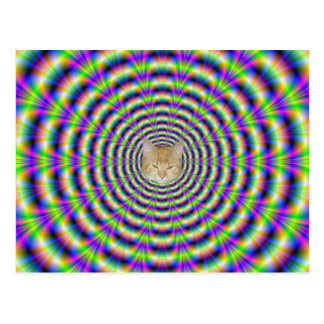 Neon Pulse Post Card + cat