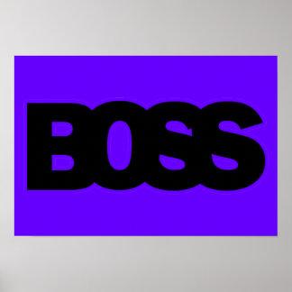 Neon Purple BOSS Print