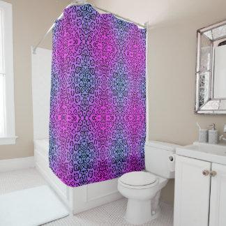 Neon Purple Cheetah Cat Animal Print Shower Curtain