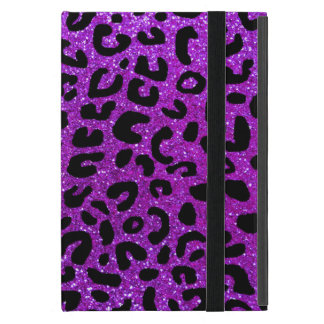 Neon purple cheetah print pattern iPad mini cover