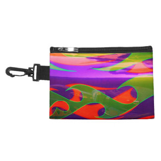 Neon Purple Green Orange Flames Bagettes Bag Clip Accessories Bags