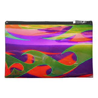 Neon Purple Green Orange Flames Bagettes Travel Travel Accessory Bags